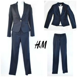 H&M 2-piece Suit: Fitted Blazer (NWT) & Suit Pants